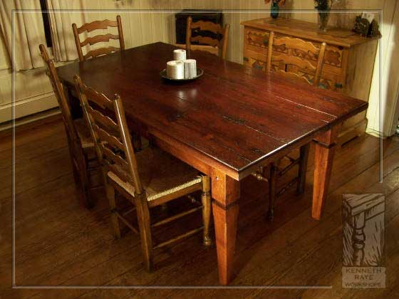 Kenneth Raye Workshops Custom Wood Tables Reclaimed